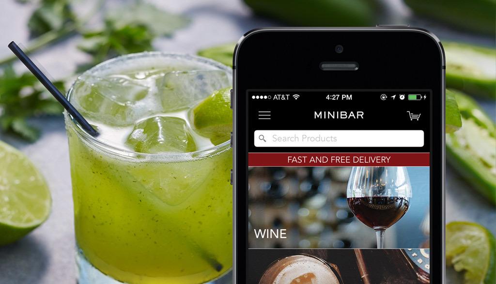 delivery minibar drink food nyc services beer wine thrillist app liquor