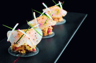Joel Robuchon Restaurant - king crab on turnip disc