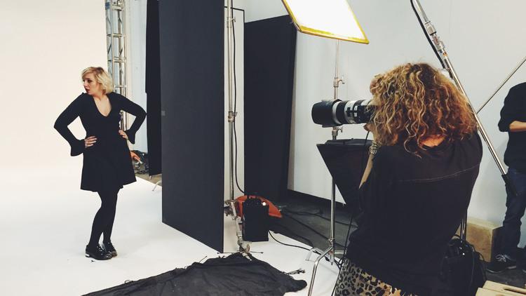 Behind-the-scenes Lena Dunham photos