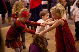 I Love Nature Family Valentine's Day Dance at the Peggy Noteabaert Nature Museum.