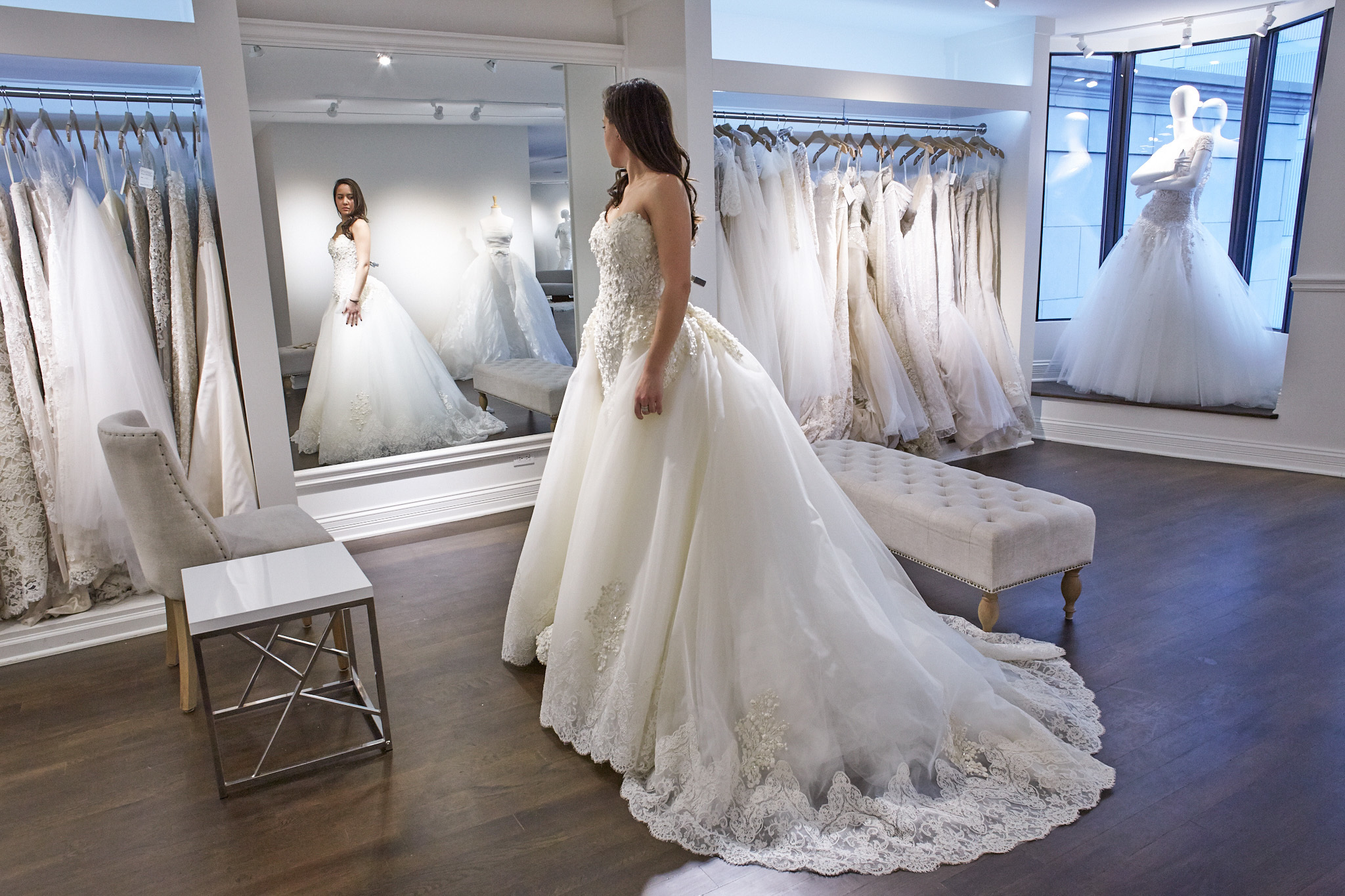 The best bridal shops in chicago for the perfect wedding dress for Shop online wedding dresses