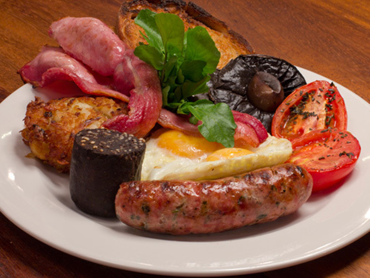 The full English at Hawksmoor Guildhall