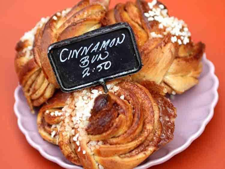 Cinnamon buns at Fabrique