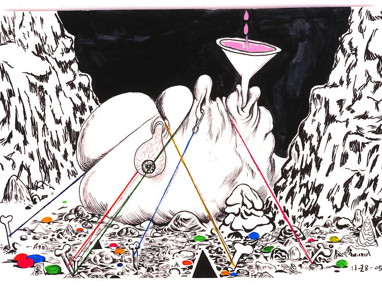 """Trenton Doyle Hancock: Skin and Bones, 20 Years of Drawing"""