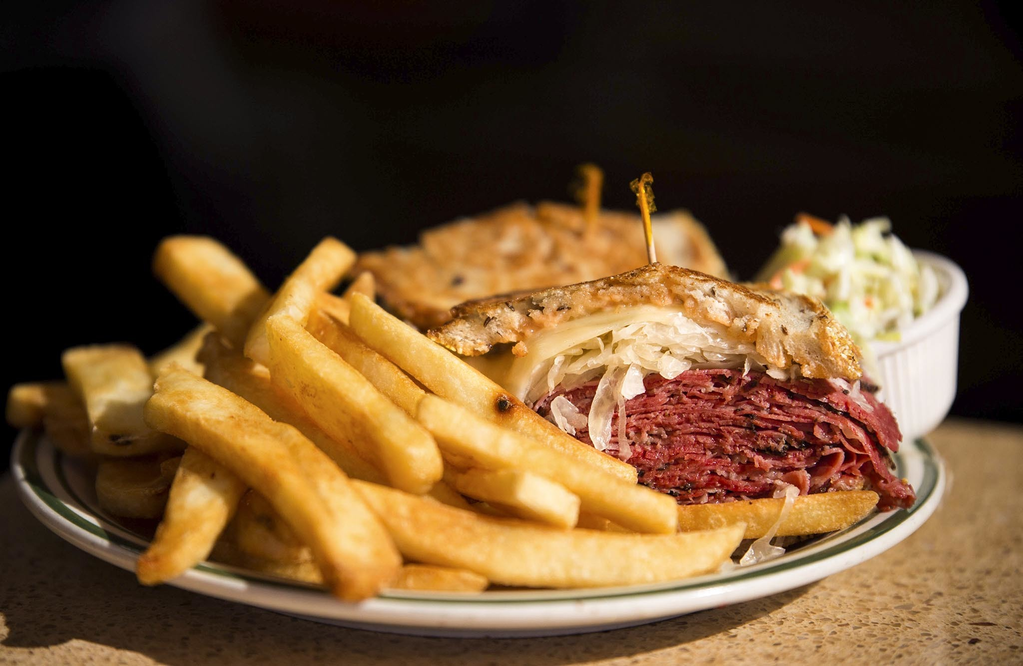 Black pastrami reuben at Brent's Delicatessen
