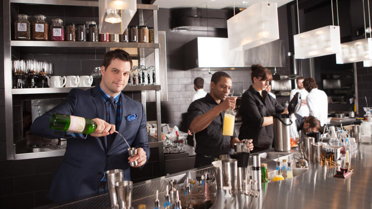 Beverage director Micah Melton at The Aviary