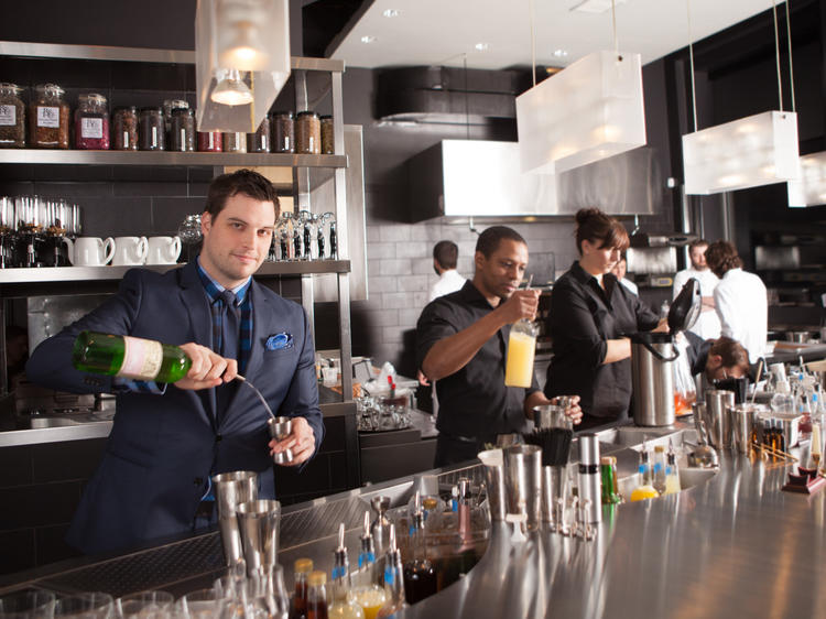 The cocktail bar: The Aviary/The Office