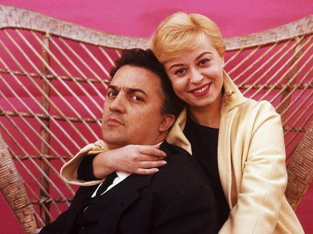 (Federico Fellini et Giulietta Masini)