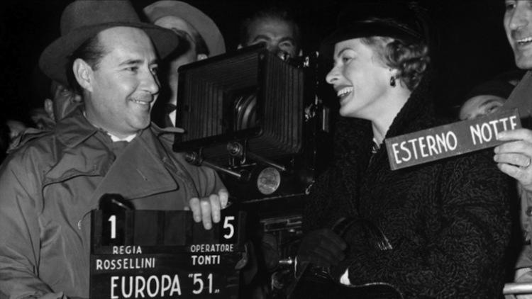 Roberto Rossellini et Ingrid Bergman