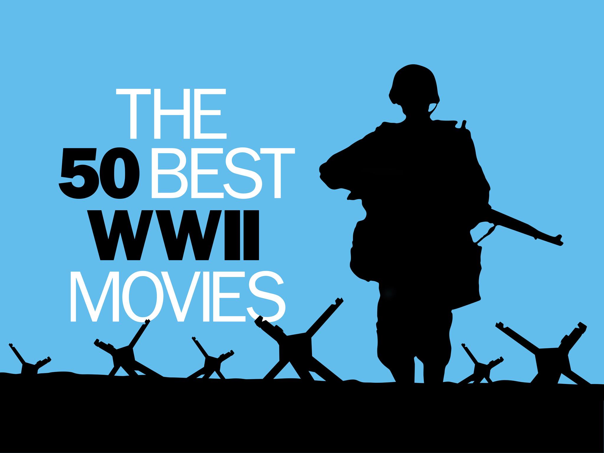 he 50 best world war II movies logo, 2048x1536