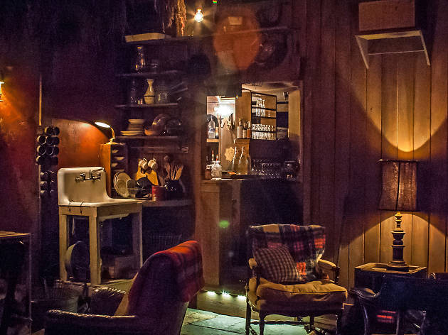 Peek Inside The New Cabin Themed Pop Up Bar On Top Of The
