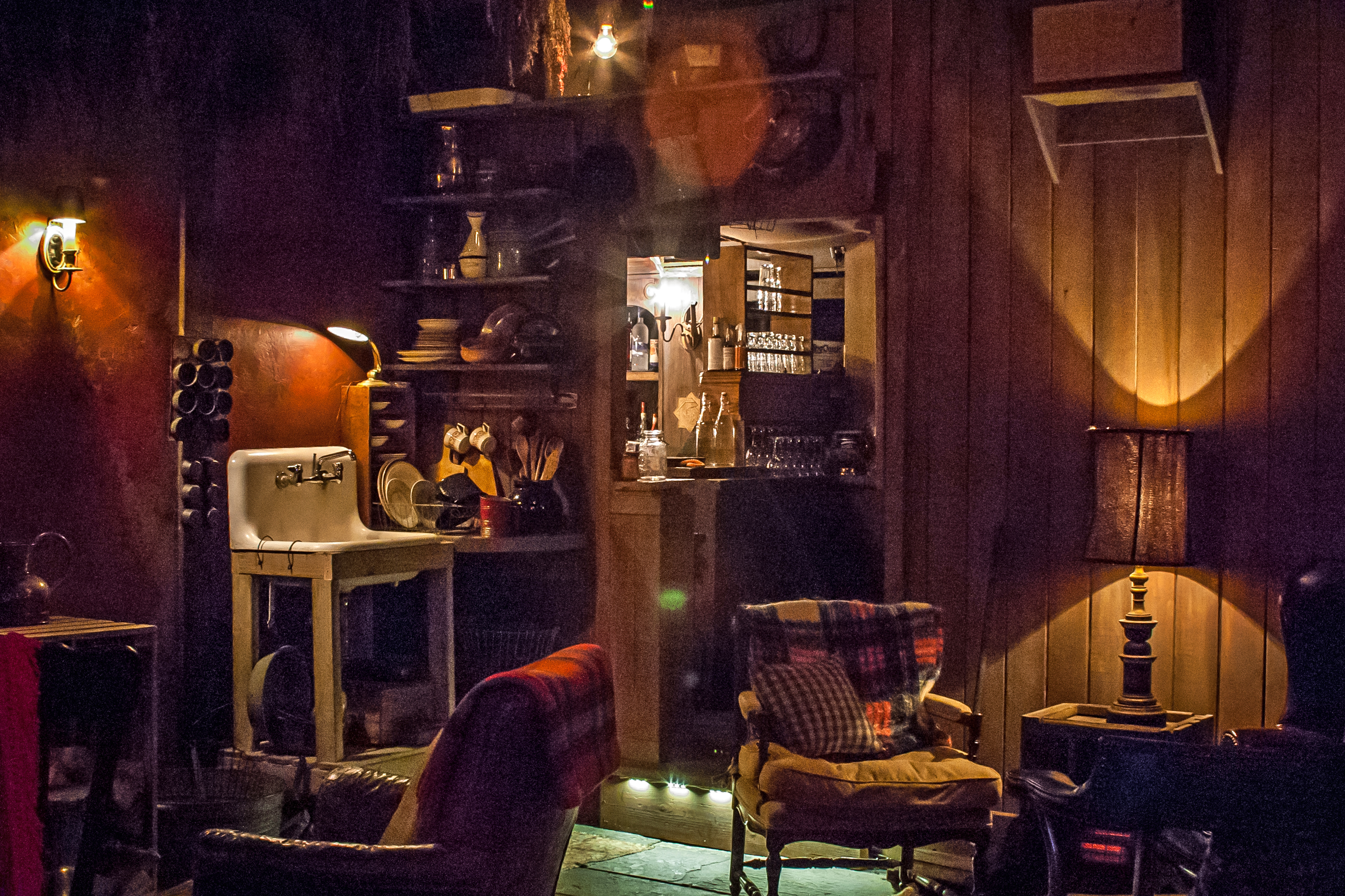 Peek inside the new cabin-themed pop-up bar on top of the McKittrick Hotel