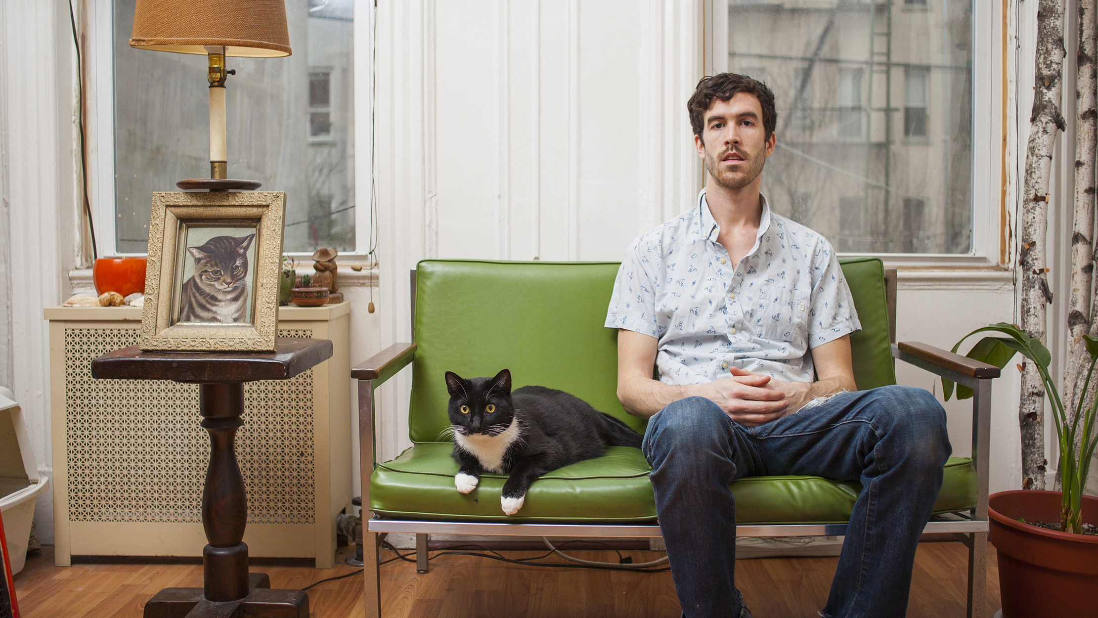 See adorable photos of New York men with their cats