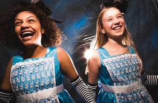 Ariana Burks, left, and Isabelle Roberts will alternate in the role of Alice in Chicago Children's Theatre's Wonderland.