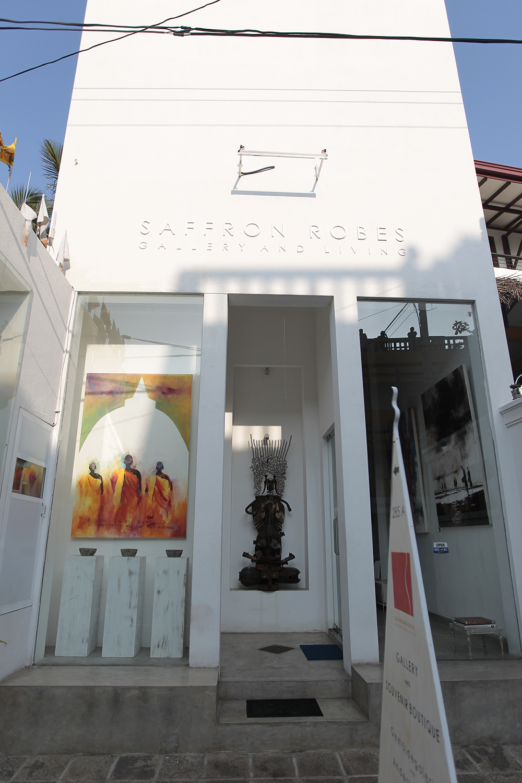 Saffron Robes is an art gallery in Hikkaduwa