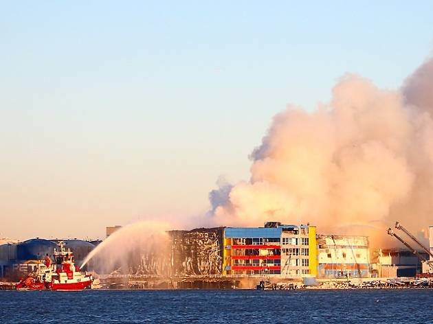 See photos of the still-smoldering 7-alarm Williamsburg fire