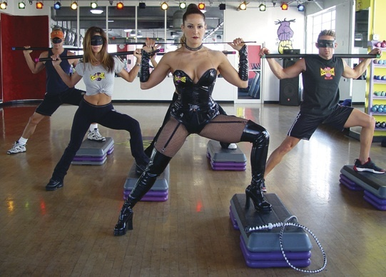 Have a dominatrix whip you into shape at Fifty Shades of Fitness