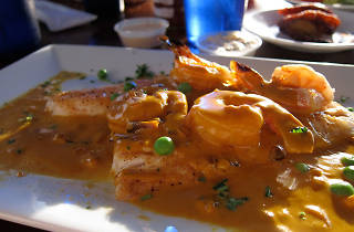 Local yellowtail with saffron sauce at Garcia's Seafood Grille & Fish