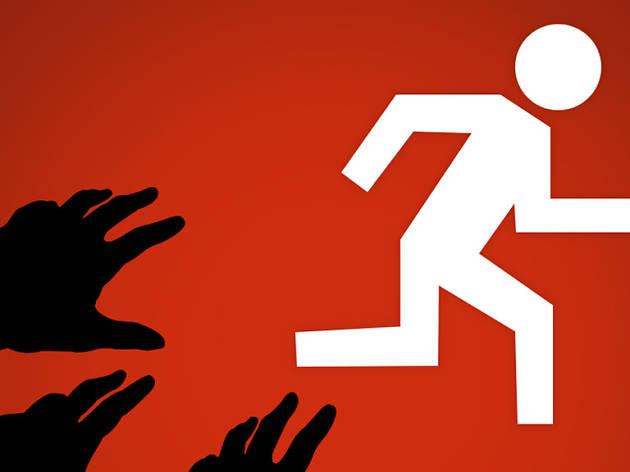 logo, zombie runs, sony