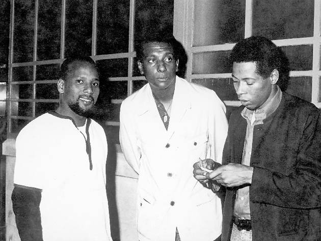 American radical Stokely Carmichael (centre) at Count Suckle's Cue Club in Praed Street, Paddington, 1967