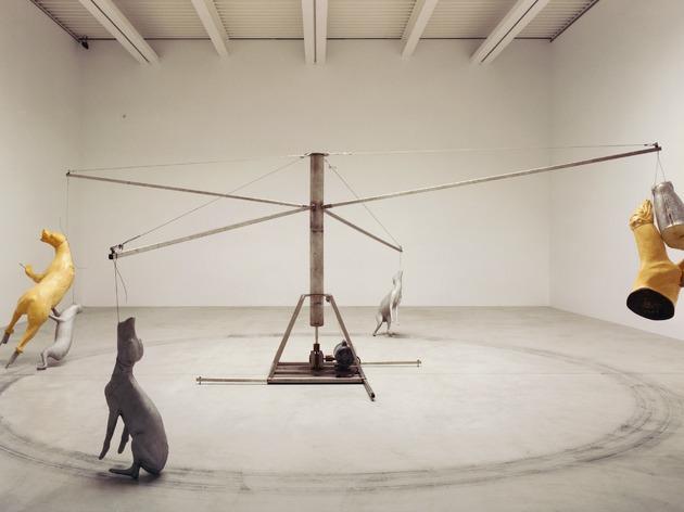 Bruce Nauman, Carousel (Stainless steel version), 1988