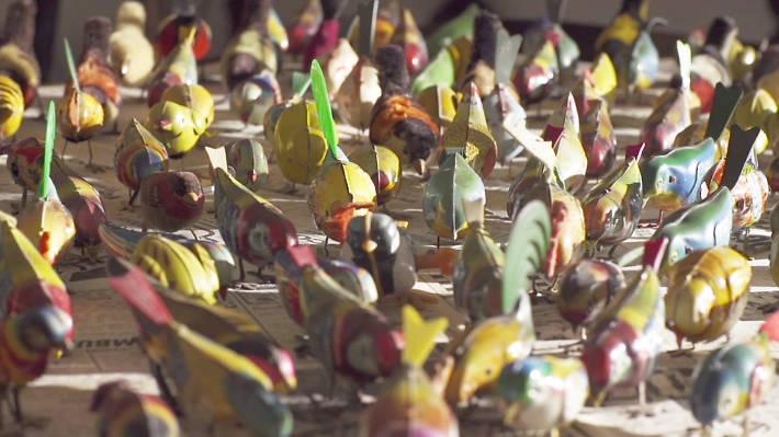 Collections, metal birds