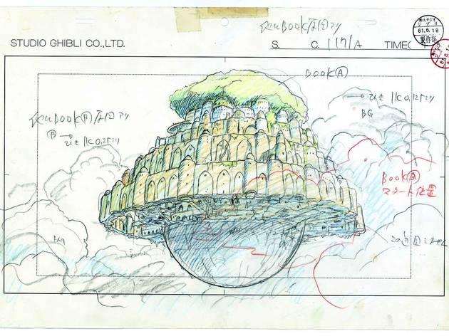 (Hayao Miyazaki, 'Le Château dans le ciel', 1986 / ©Nibariki / GNDHDDT)