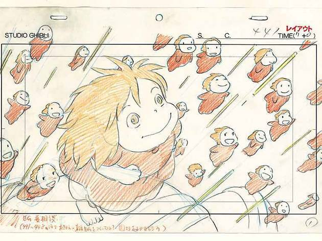 (Hayao Miyazaki, 'Ponyo sur la falaise', 2008 / ©Nibariki / GNDHDDT)