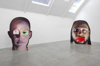 (Tony Oursler, Installation of 'VIE' and 'VAC', 2014. © the artist; Courtesy, Lisson Gallery, London)