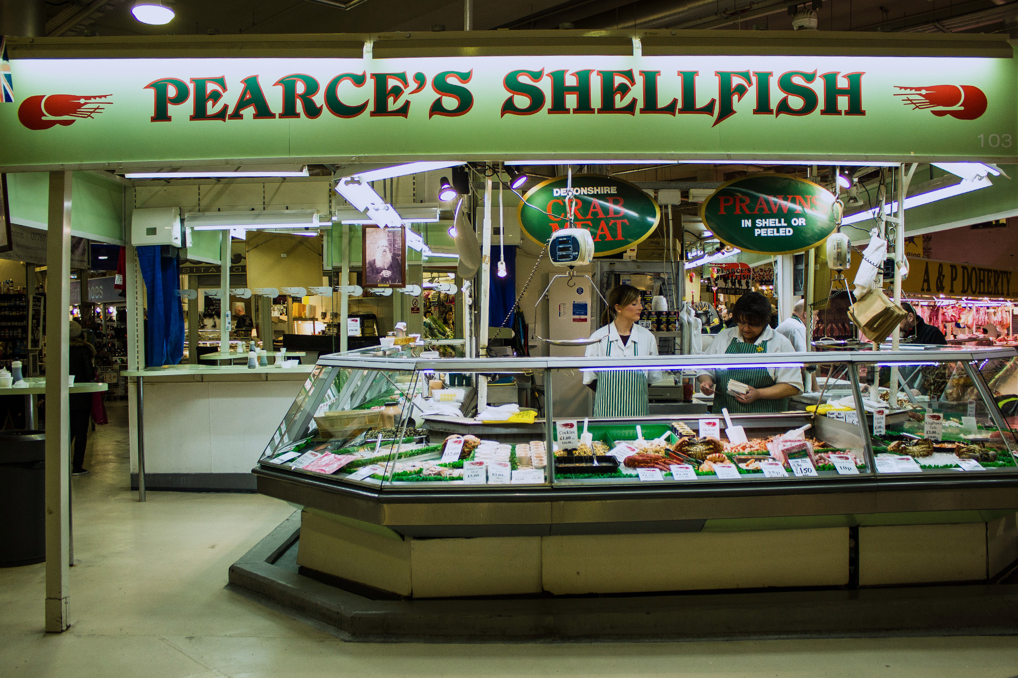 pearce's shellfish, cheap eats