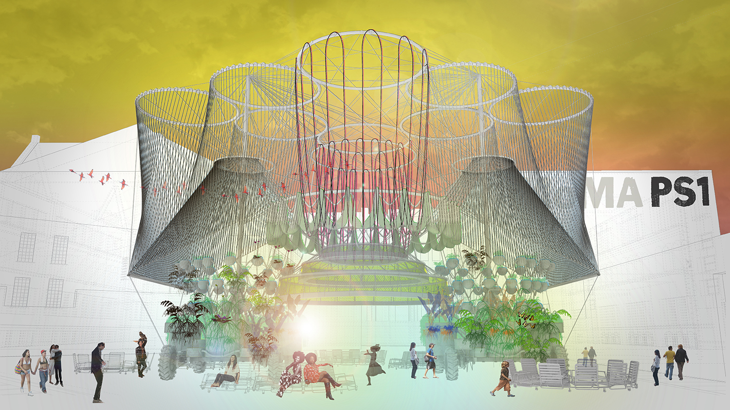 MoMA PS1 announces winning design for this summer's Warm Up installation (2015)