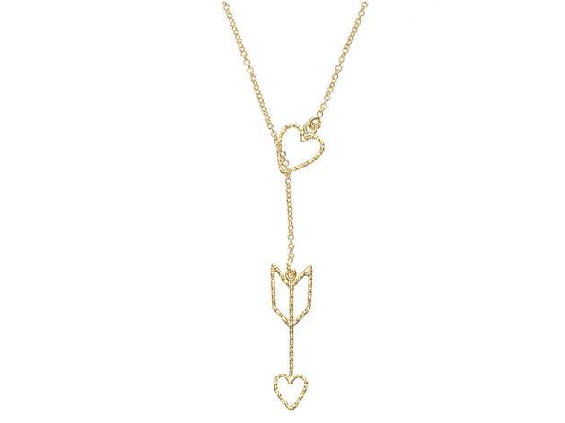 Gold Arrow Heart