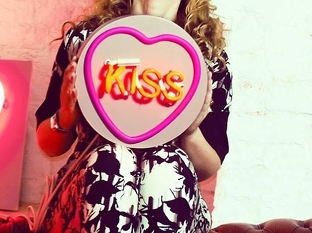Valentine's Day neon love heart