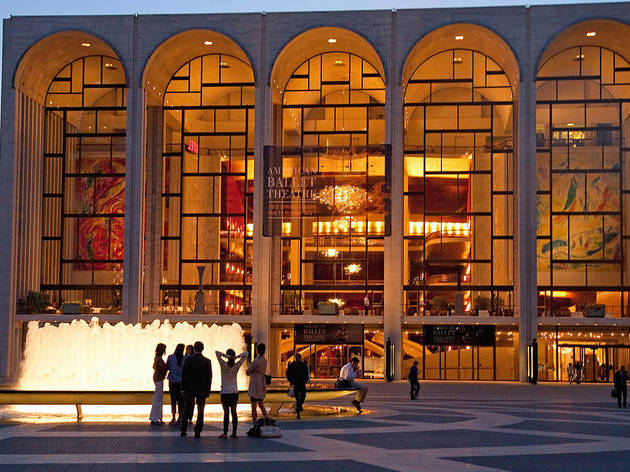 The Lincoln Center fountain