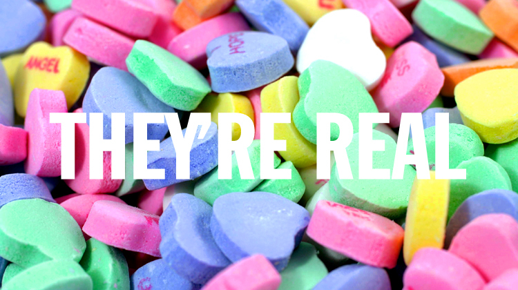la candy hearts, they're real