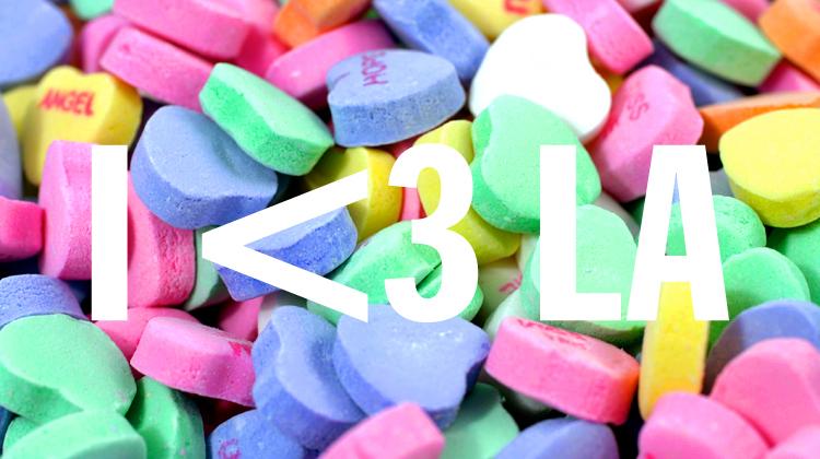 la candy hearts, i <3 la