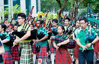 St. Patrick's Day Street Festival and Parade at Singapore River