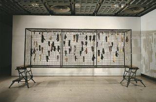 (Stuart Brisley: '1=66,666', 1983, part of Jane and Louise Wilson's display. © Stuart Brisley)