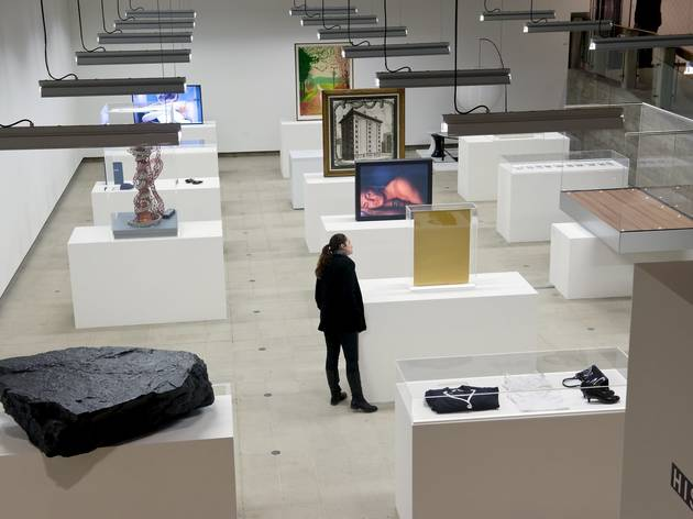 (View of Simon Fujiwara's display. Photo: Linda Nylind)