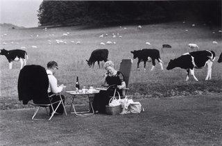 (Tony Ray-Jones: 'Picnic, Glyndebourne, 1967' © the artist. Part of Roger Hiorns's display)