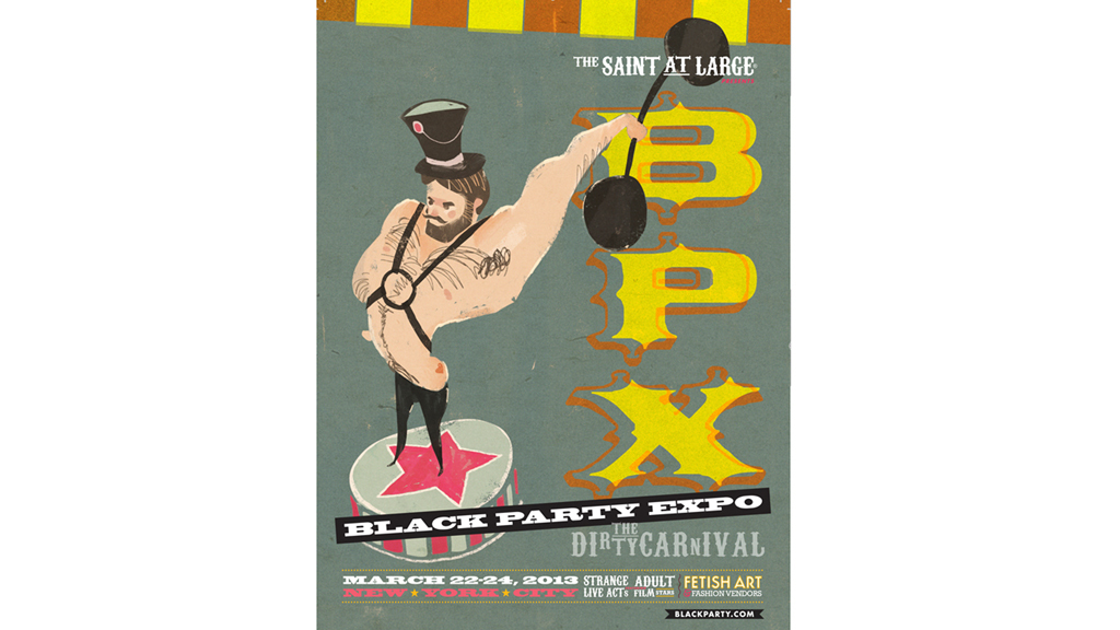 Black Party Expo Poster, 2013