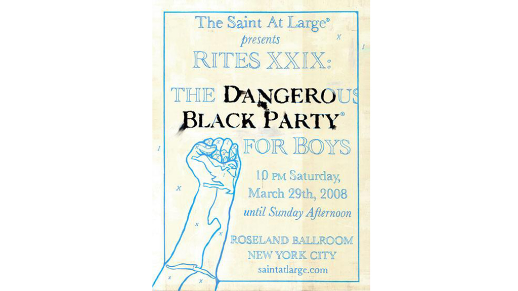 Black Party Poster, 2008
