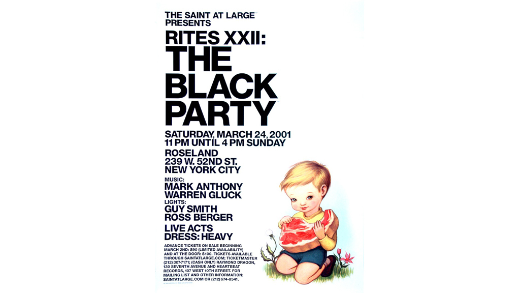 Black Party Poster, 2001