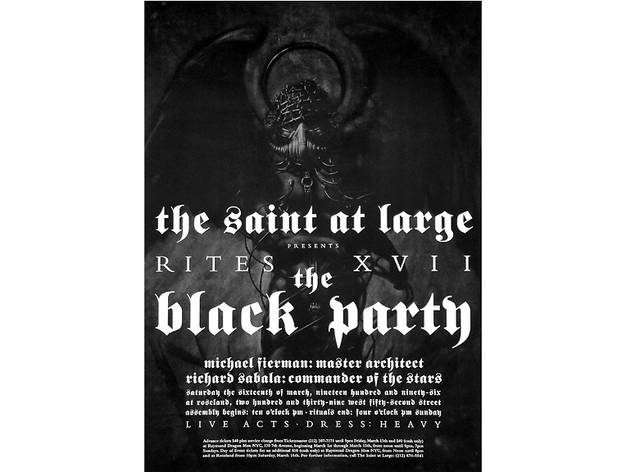 Black Party Poster, 1996