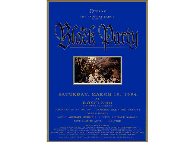 Black Party Poster, 1994