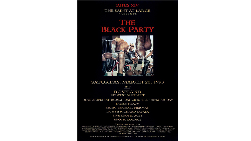 Black Party Poster, 1993