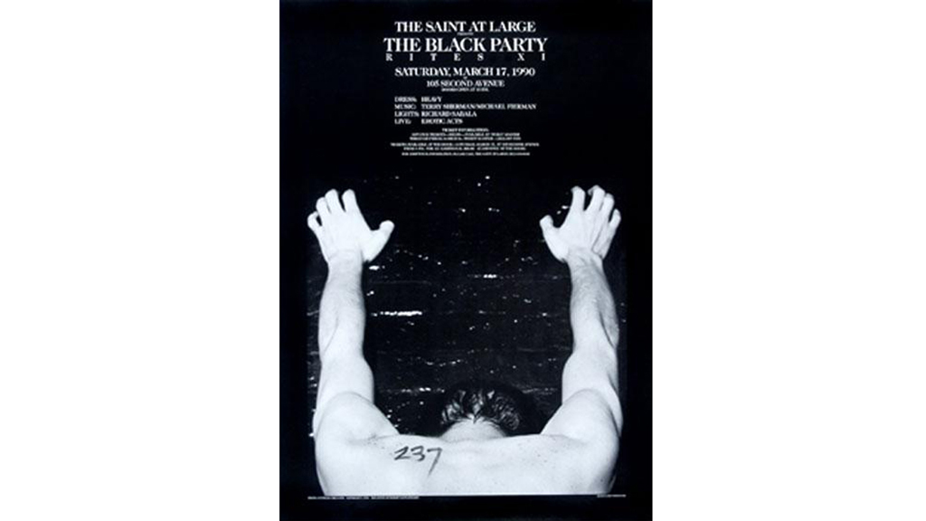 Black Party Poster, 1990