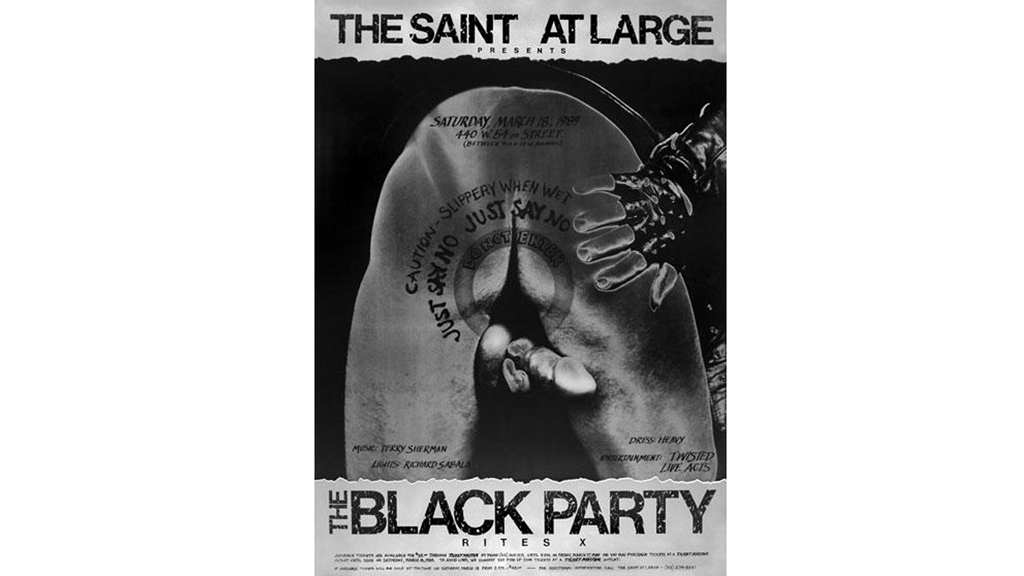 Black Party Poster, 1989