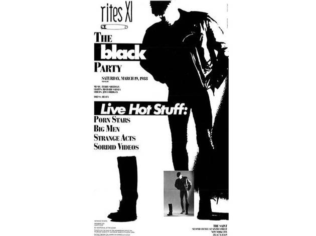 Black Party Poster, 1988