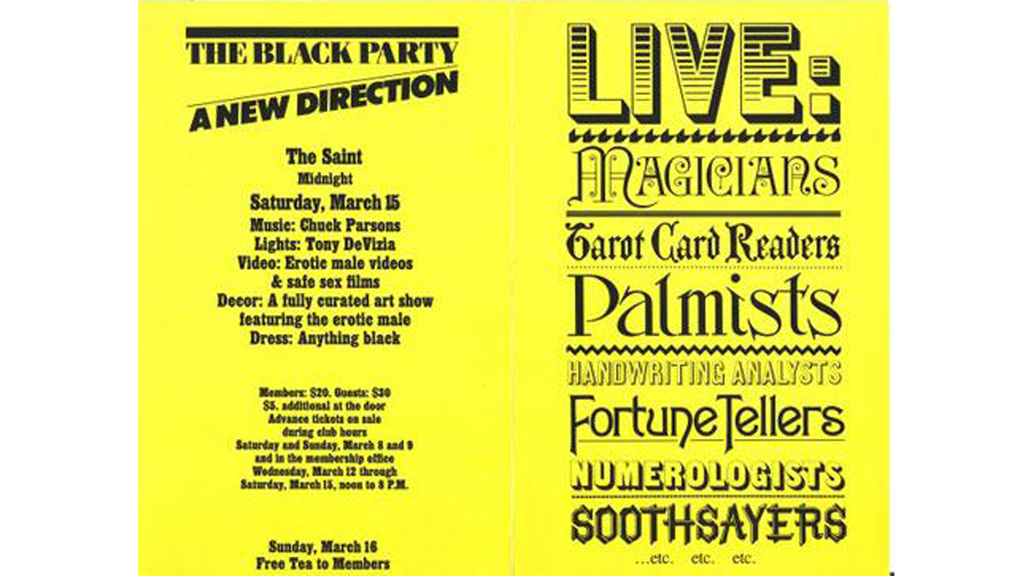 Black Party Poster, 1986